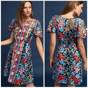 Anthro Eva Franco Ferrah Embroidered Dress